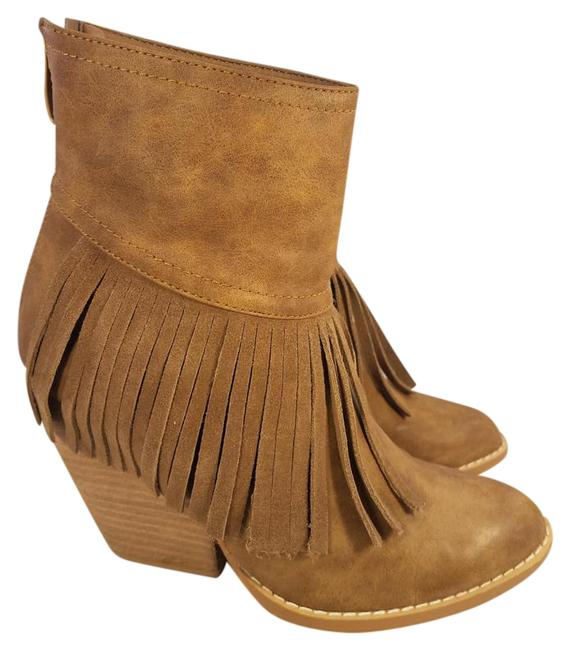 Item - Brown Ankle Fringes Tassel with Back Zipper Boots/Booties Size US 7 Regular (M, B)