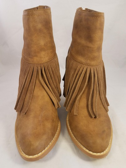 Very Volatile Woman Ankle Fringes Sexy BROWN Boots Image 1