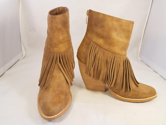 Very Volatile Woman Ankle Fringes Sexy BROWN Boots Image 4
