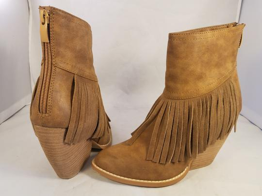 Very Volatile Woman Ankle Fringes Sexy BROWN Boots Image 5