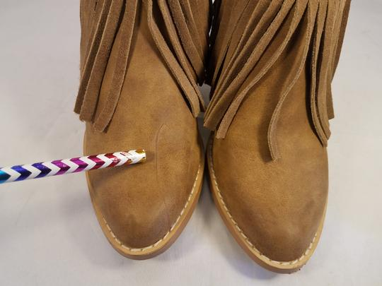 Very Volatile Woman Ankle Fringes Sexy BROWN Boots Image 6