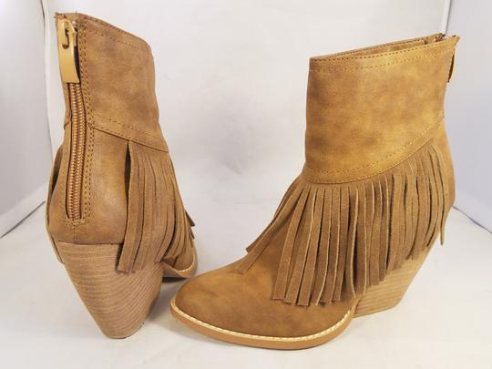 Very Volatile Woman Ankle Fringes Sexy BROWN Boots Image 7