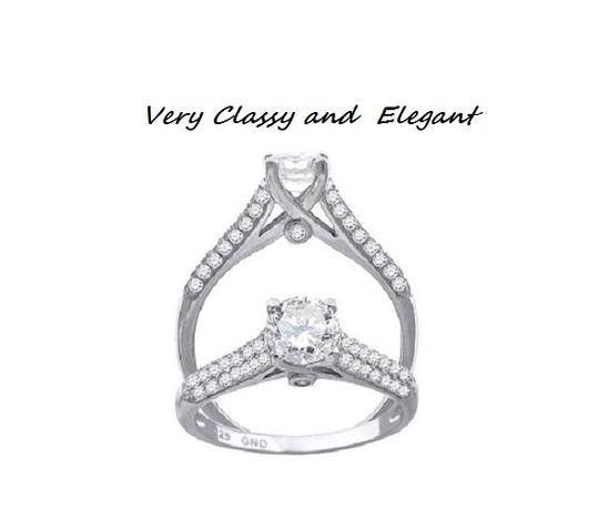 Solid .925 Sterling Silver Solitaire * 7 * Silver*last One Engagement Ring Image 2