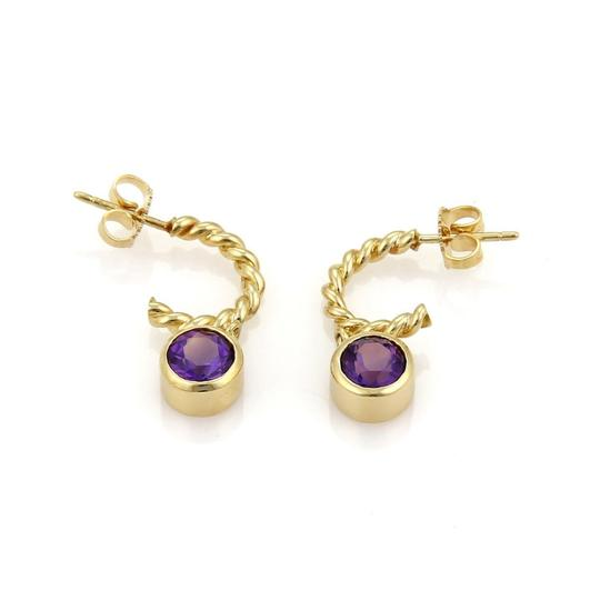 Preload https://img-static.tradesy.com/item/21320905/tiffany-and-co-yellow-gold-purple-amethyst-2ct-dangle-charm-wire-hoop-earrings-0-0-540-540.jpg