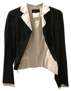 COMME des GARÇONS Hand Stitching Raw Edges Black fitted jacket with cotton lining Blazer