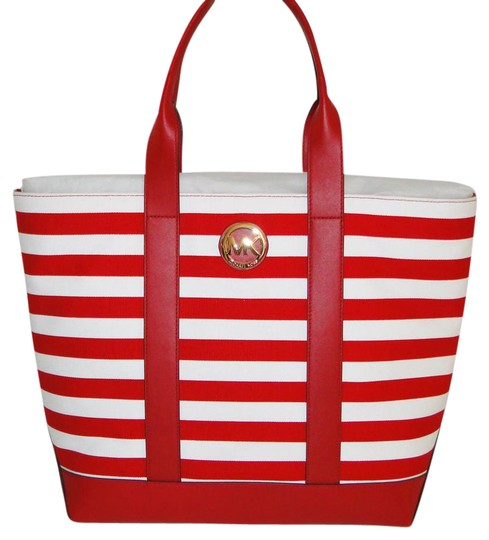 a63de695a3fe Michael Kors Red Canvas Tote | Stanford Center for Opportunity ...