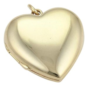 Tiffany & Co. Vintage 14k Yellow Gold Puffed Heart Locket Pendant