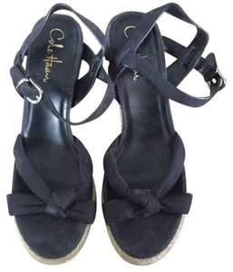 Cole Haan Black And Tan Wedges