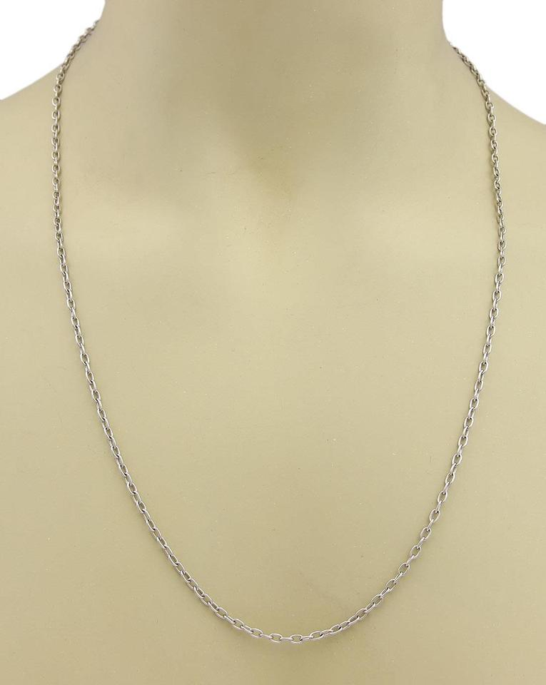 necklace inches iobi sterling fine silver chain oval products in link necklaces feshionn or belcher