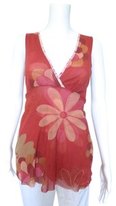 Sweet Pea by Stacy Frati Floral Empire Waist Mod Top Red