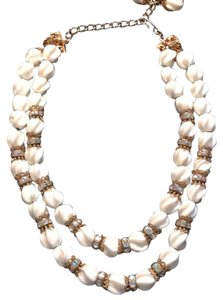 Vintage Necklace White And Gold vintage necklace