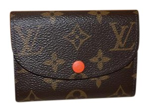 Louis Vuitton BRAND NEW Monogram ROSALIE WALLET with SOLD OUT Poppy Interior
