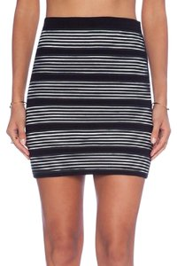 Naven Bodycon Nighttime X Nbd Mini Skirt Black and White