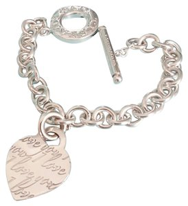 Tiffany & Co. TIFFANY & CO I Love You Notes Heart Tag jump ring Toggle bracelet