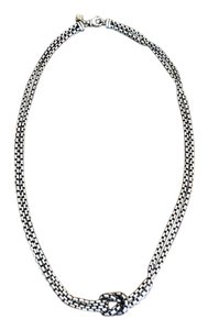 David Yurman David Yurman Sterling Silver Cable Double Knot Necklace 16