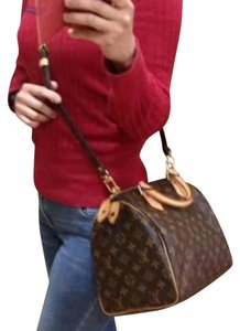 Louis Vuitton Satchel in Authentic SPEEDY 30 WITH Monogram STRAP