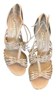 Chanel Strappy Beige nude Sandals