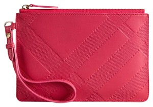 Burberry NWT Signature Pink Leather Wallet/Wristlet