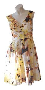 Maggy London short dress yellow black brown on Tradesy