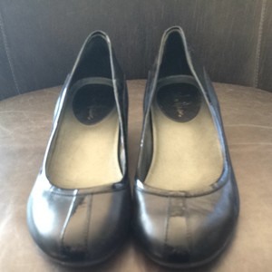 Cole Haan Nike Air Patent Leather Wedge Black Flats