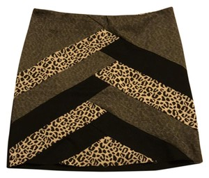 Silence + Noise Mini Skirt black/leopard print