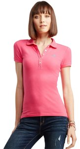 Aropostale Polo Pique Button Down Shirt pink