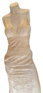 Nicole Miller Ivory Silk Lj0002 Formal Wedding Dress Size 6 (S)