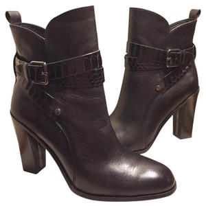 Donald J. Pliner Black/Silver Hardware/Accents Boots