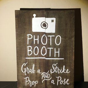 Michaels Brown Photo Booth Sign Reception Decoration