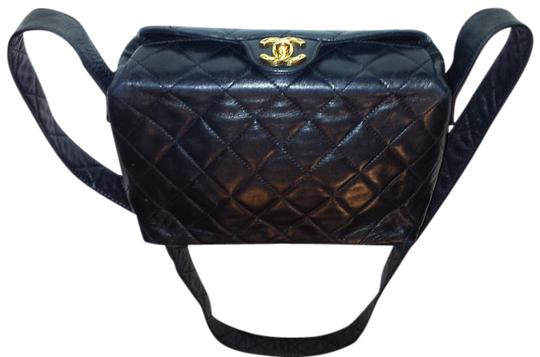 Chanel Vintage Jumbo Camera Flap Cc Logo Medium Cross Body Bag Image 1