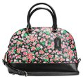Coach Mini Sierra Posey Cluster Floral 57621 Satchel in black Image 0