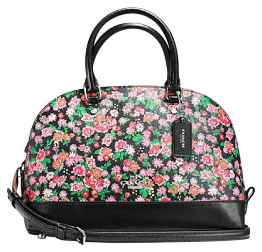 Preload https://img-static.tradesy.com/item/21322172/coach-sierra-mini-posey-cluster-floral-57623-57621-black-leather-satchel-0-2-540-540.jpg