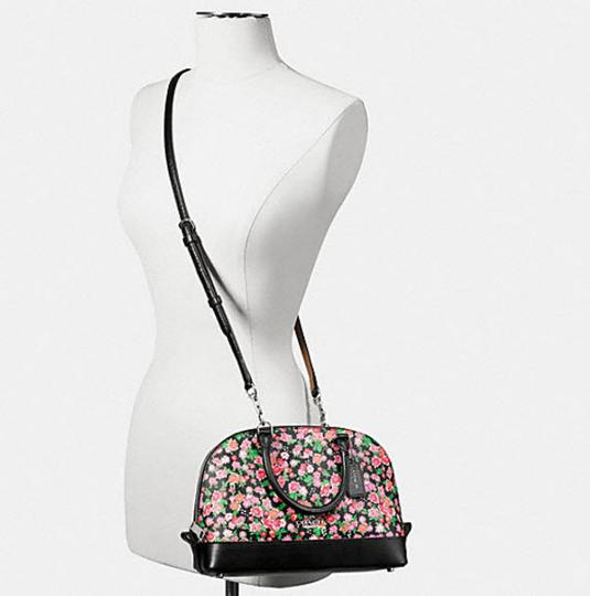 Coach Mini Sierra Posey Cluster Floral 57621 Satchel in black Image 1