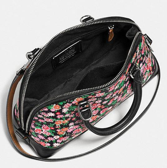 Coach Mini Sierra Posey Cluster Floral 57621 Satchel in black Image 2