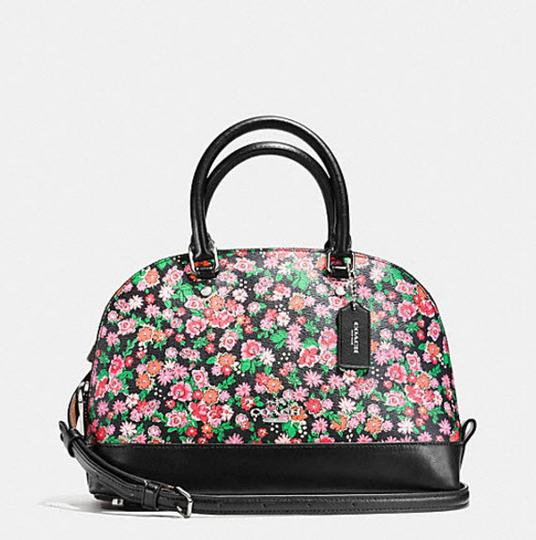 Coach Mini Sierra Posey Cluster Floral 57621 Satchel in black Image 3