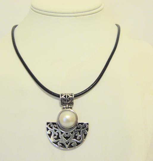 Other Artisan Crafted Freshwater Pearl Pendant w/Leather Cord 18