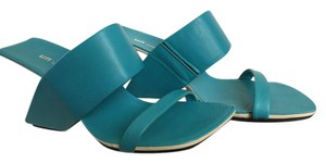 United Nude Leather Invisible Heel Lin Loop Turquoise Sandals