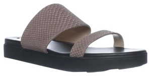 Via Spiga Flatform Leather Festival Snakeskin Dark Taupe Sandals