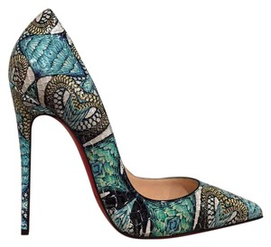 Christian Louboutin Sokate Kate Stiletto Python Snakeskin blue Pumps