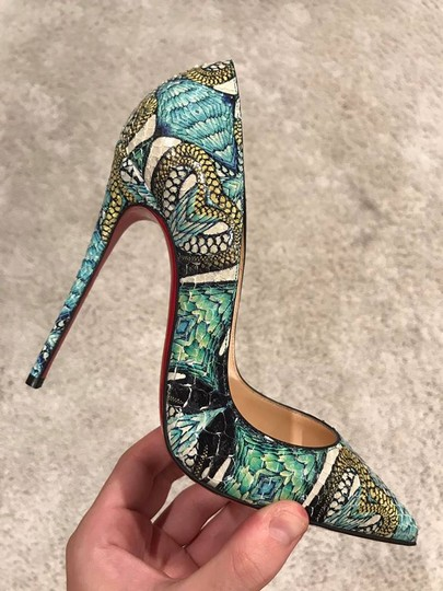 Christian Louboutin Sokate Kate Stiletto Python Snakeskin blue Pumps Image 1