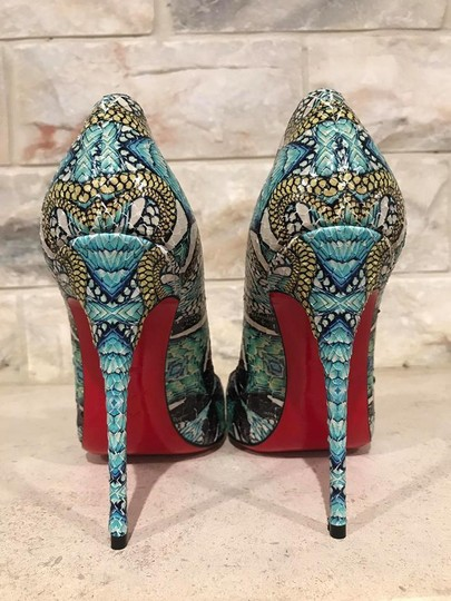 Christian Louboutin Sokate Kate Stiletto Python Snakeskin blue Pumps Image 10