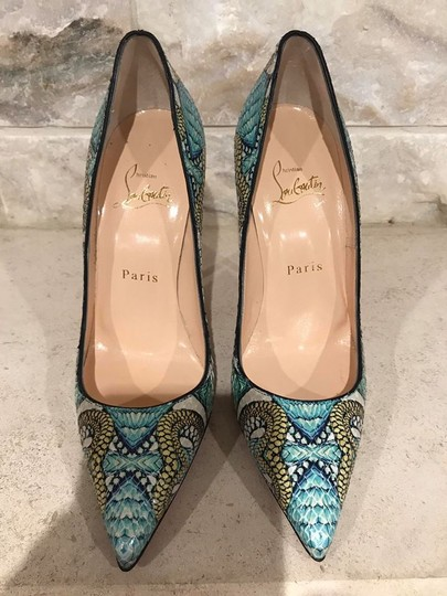 Christian Louboutin Sokate Kate Stiletto Python Snakeskin blue Pumps Image 5