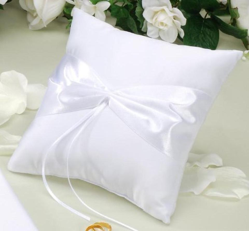 White Ring Pillow Design Your Own Decorate Ring Pillow For Wedding