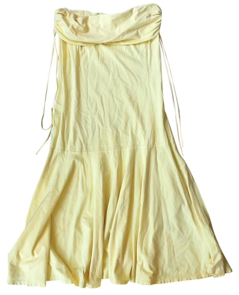 20dc4f969d Theory Yellow 41074686 Short Casual Dress. Size  4 (S) Length  Mid-Length