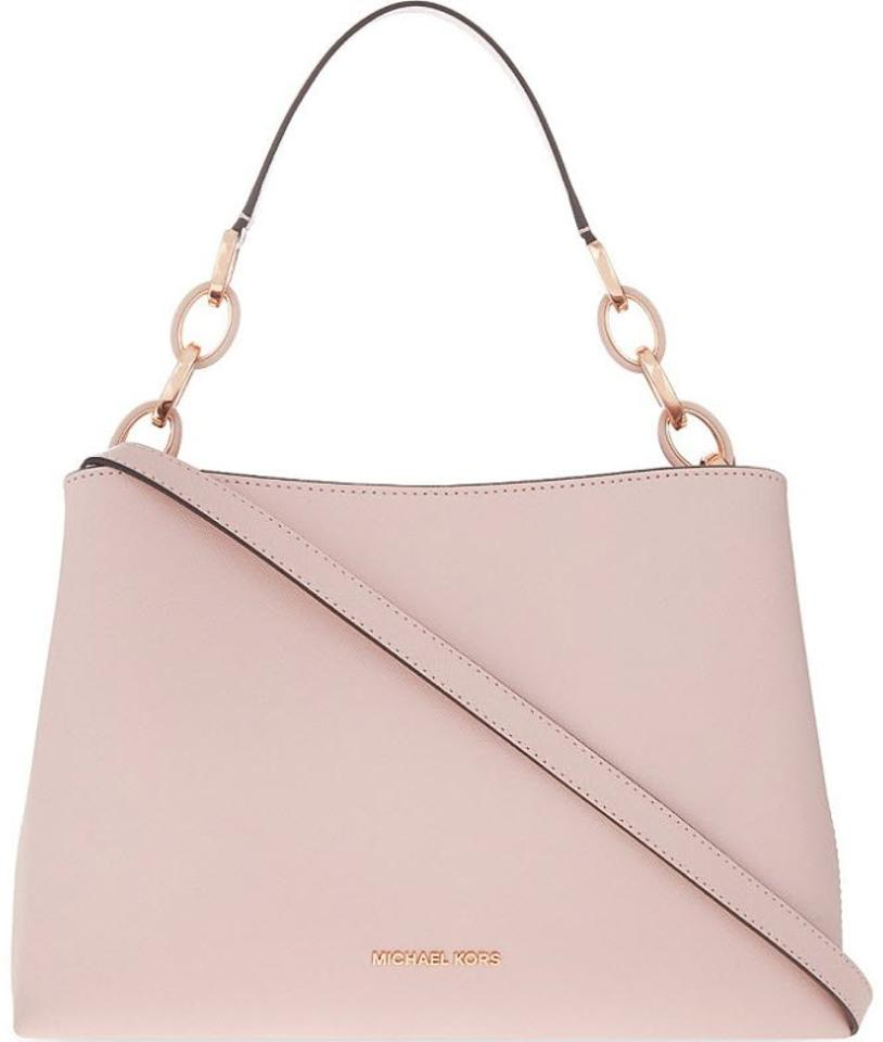 a3646b87c5f3 Michael Kors Portia Large Saffiano Soft Pink Leather Satchel - Tradesy