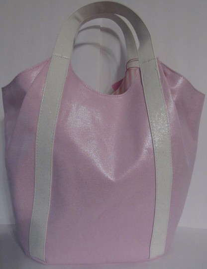 Juicy Couture Shoulder Bow Tote in pink / white Image 1