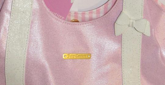 Juicy Couture Shoulder Bow Tote in pink / white Image 7