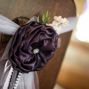 Plum And Silver Bows