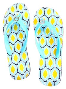 Kate Spade Powder Blue and Lemon Yellow Sandals