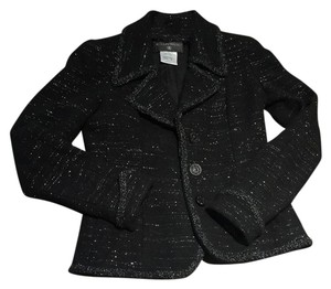 Chanel black silver Blazer